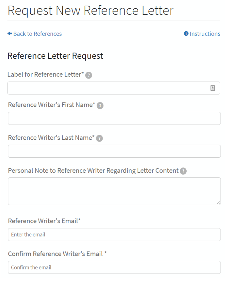 Reference Letter Request Email from natmatch.com